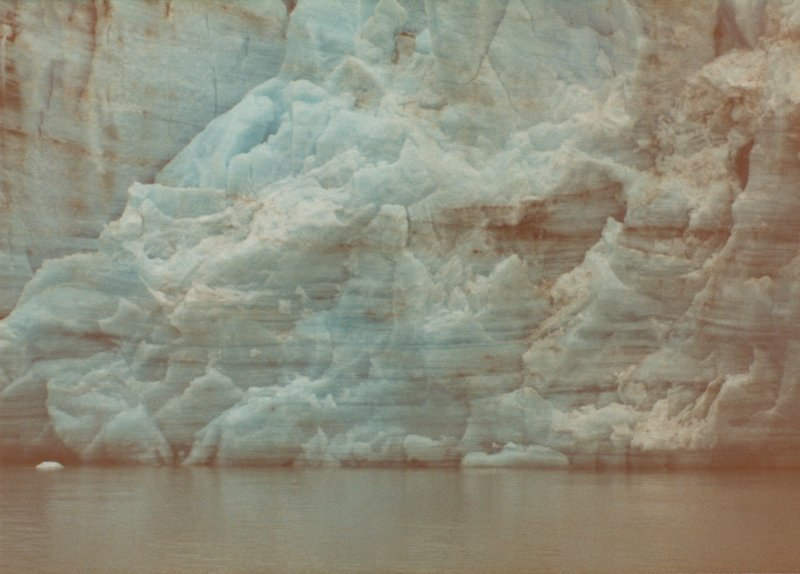 You can really see the layers of Marjerie Glacier when up close. This was taken about as close as the boat dared to go.