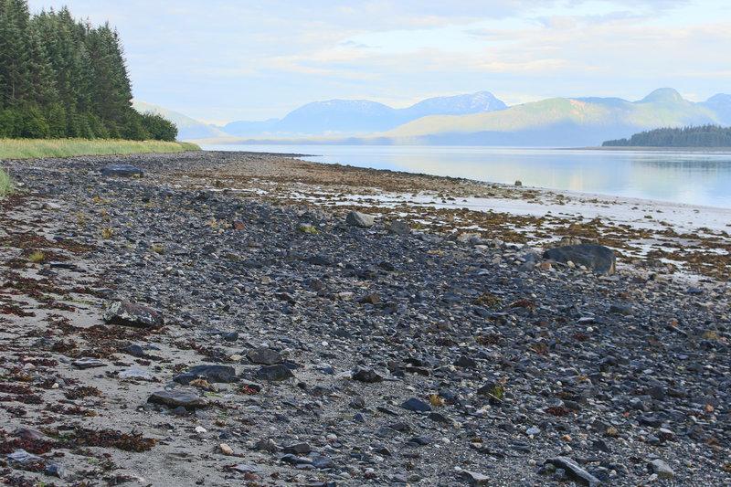 The Beach Trail takes visitors near a very rocky beach.