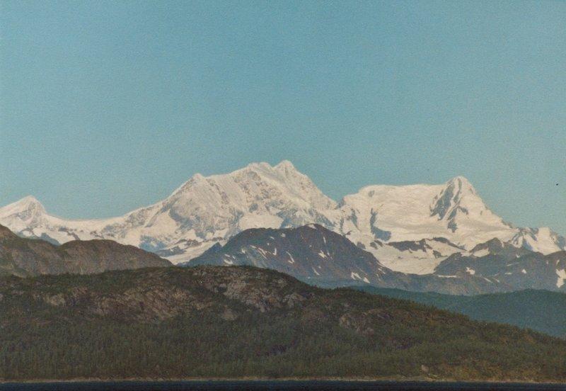 The Fairweather Range provides a gorgeous background to Glacier Bay.