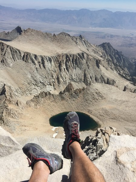 Gorgeous views and a welcome break await you on the summit of Mount Whitney.