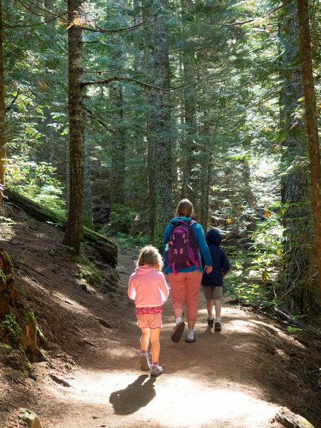 Mirror Lake Trail is a wonderful, family-friendly trail. Photo by Dolan Halbrook.