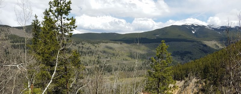 It's a gorgeous view from near the top of the Chapman Campground to South Fork Trail.