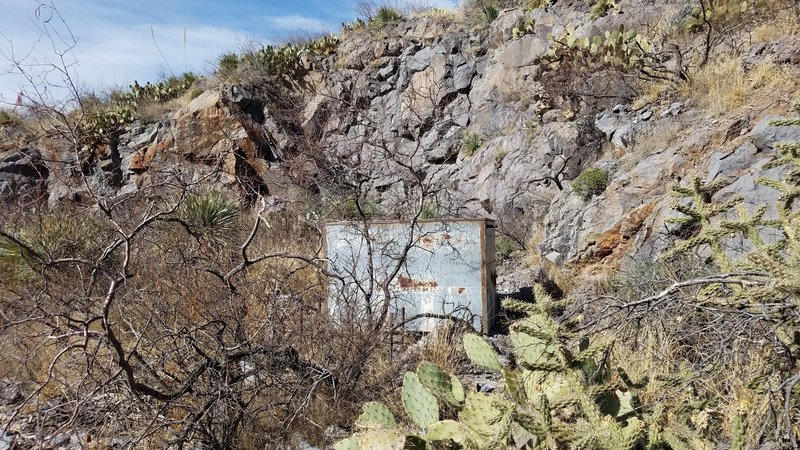 The Modoc Mill Site lives shrouded in a rocky depression.