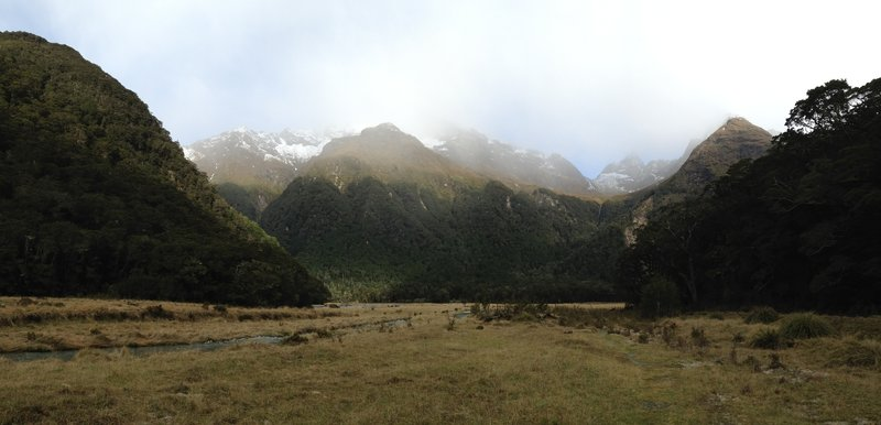 The meandering river and dramatic landscape near Flats Hut makes it worth the trip.