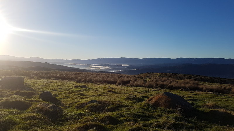 Boulder Hill offers incredible views up Hutt Valley.