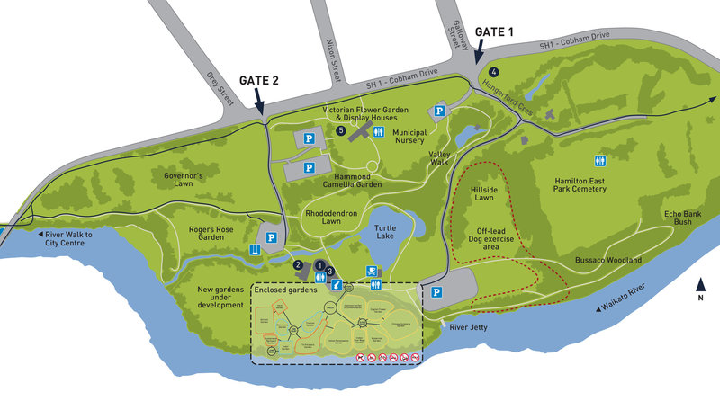 This is a map of Hamilton Gardens.