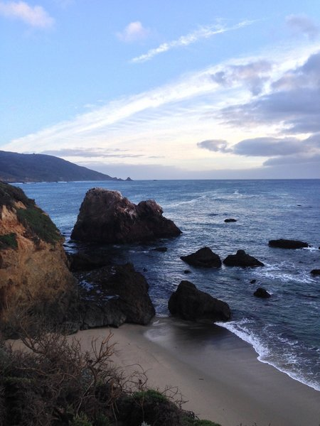 From the top of the Headlands Trail, look south to view the expansive Big Sur coastline.