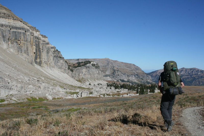 Start Day 3 of the Teton Crest Trail by crossing Death Canyon Shelf.