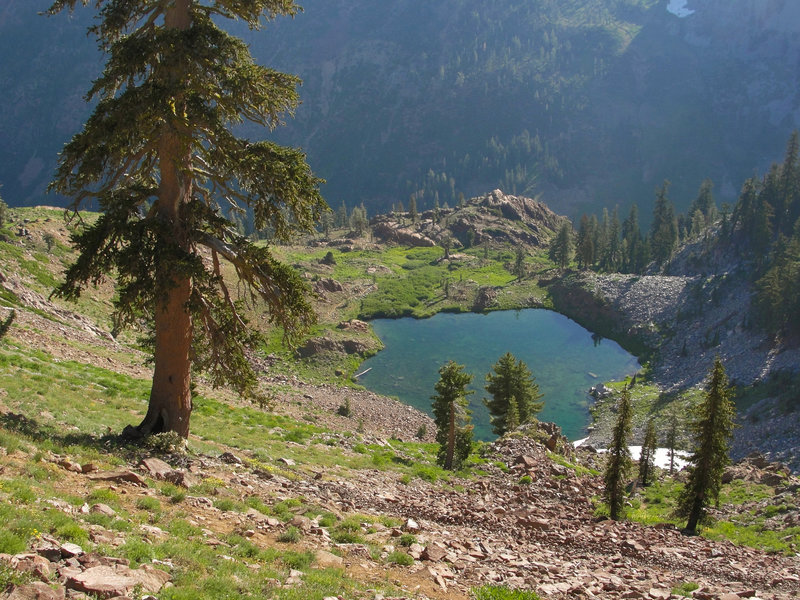 The striking Luella Lake adds to the gorgeous scenery alongside the Four Lakes Trail.