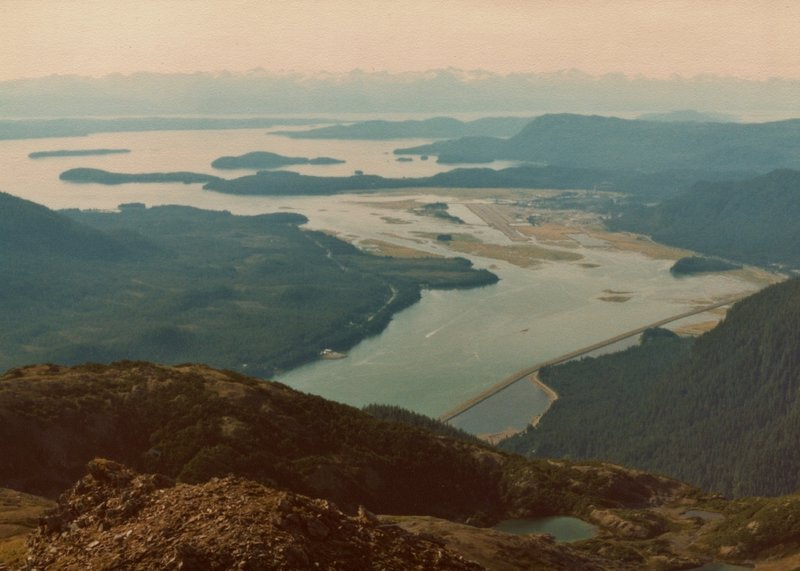 Auke Bay, northwest of Juneau near Mendenhall Glacier, can be truly stunning from the summit of Mt. Juneau.