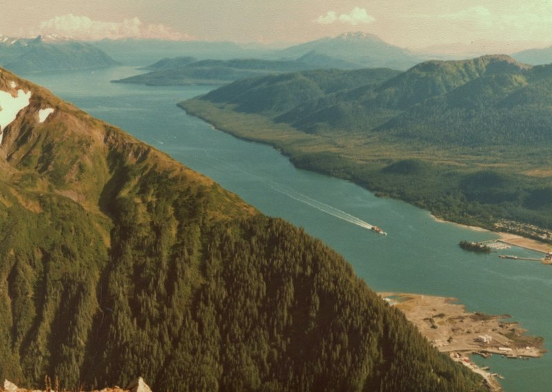 Lynn Canal is gorgeous looking southeast from the summit of Mt. Juneau.