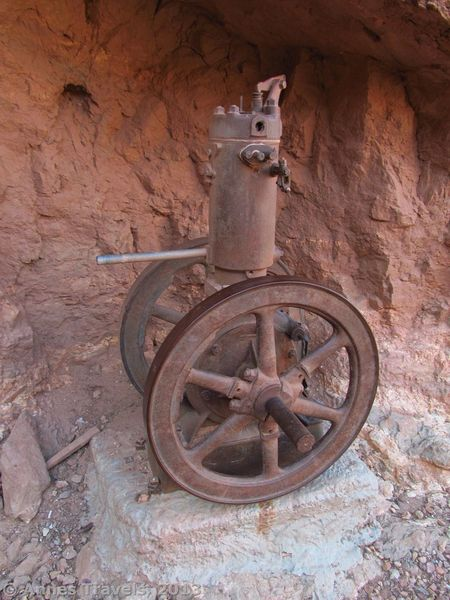 Old Machinery is displayed near the Last Chance Mine below Horseshoe Mesa.
