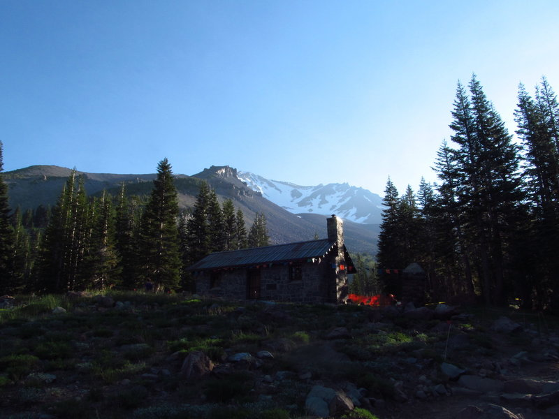 The Horse Camp below Mt. Shasta offers fantastic views of the mountain.