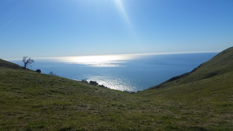 A gorgeous view awaits you from the ridgeline on Baldwin Ranch Road.