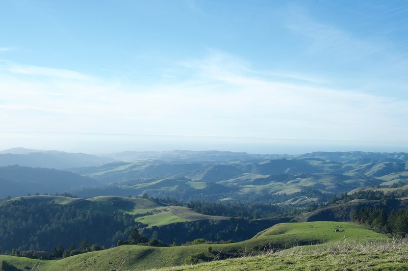The summit of Mindego Hill offers a gorgeous view toward the west and the Pacific Ocean.