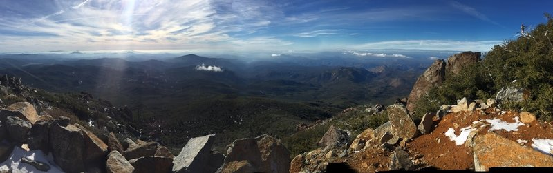 The view west from Cuyamaca Peak is simply stunning.