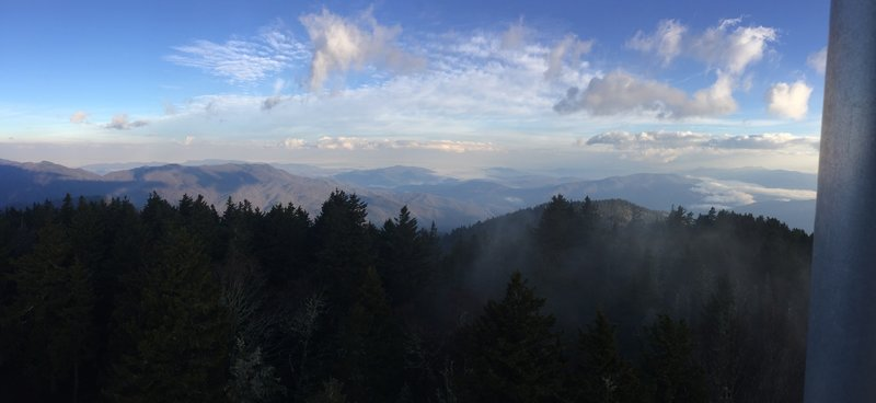 The early morning offers gorgeous views from the fire tower atop Mount Sterling.