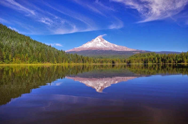 From its dam, Trillium Lake has an iconic view of Mt. Hood and its reflection. Photo by Gene Blick.