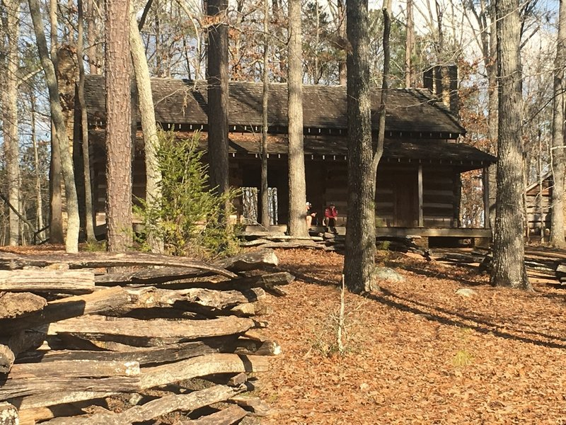 The Lakeside Trail offers an interesting look into a pioneer cabin.