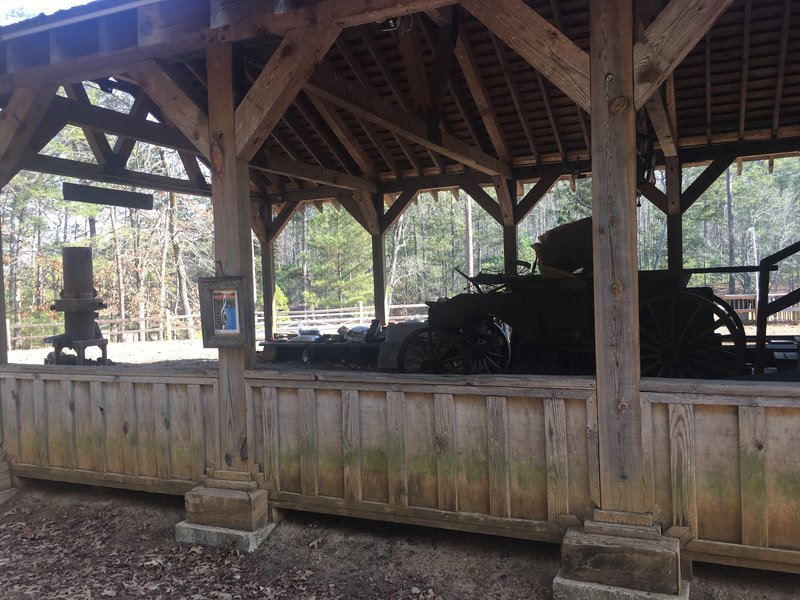The Blacksmith Shop offers a great look into history along the Lakeside Trail.