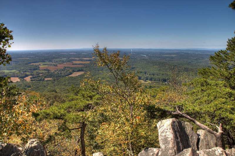The summit of Sugarloaf Mountain offers spectacular views of rural Maryland.