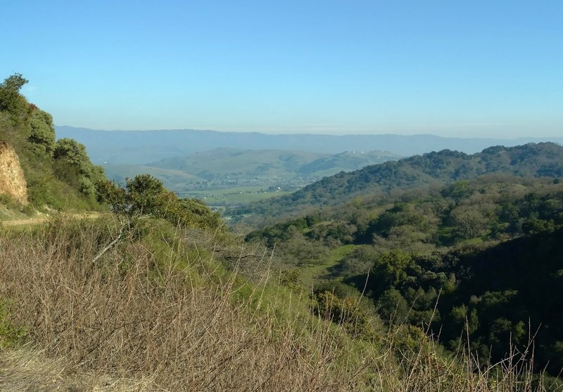 The Randol Trail offers beautiful views of the countryside south of San Jose.