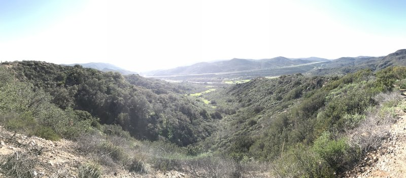 The Sunflower Trail offers views of Laguna Canyon and toll roads.