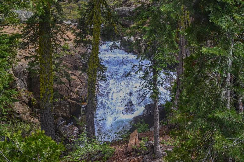 A lovely falls cascades near Granite Creek.