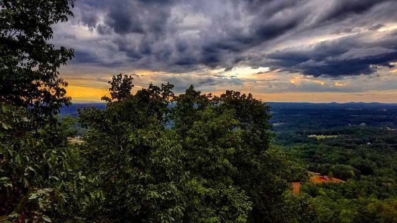 The observation deck offers stupendous views looking out over Hickory.