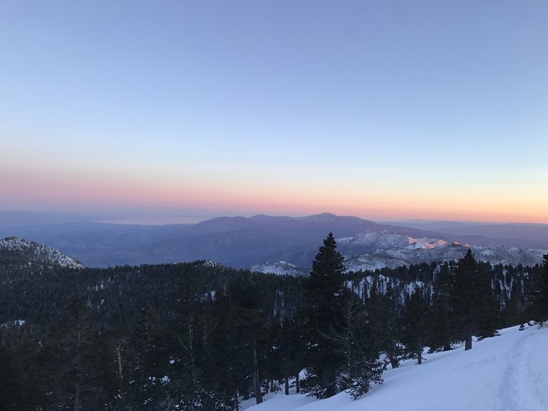 The sun sets over the mountain!
