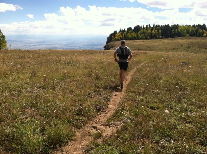 Beautiful views are on offer running toward the edge of Grand Mesa.