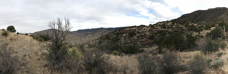 Looking northeast toward Purgatory Canyon. Taken from the junction just before the descent.