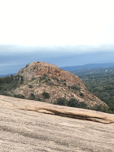 Hiking up the Summit Trail offers fantastic views of Enchanted Rock.