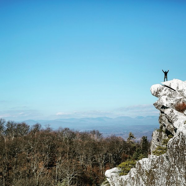 The summit of Bonticou Crag offers up quite a view!