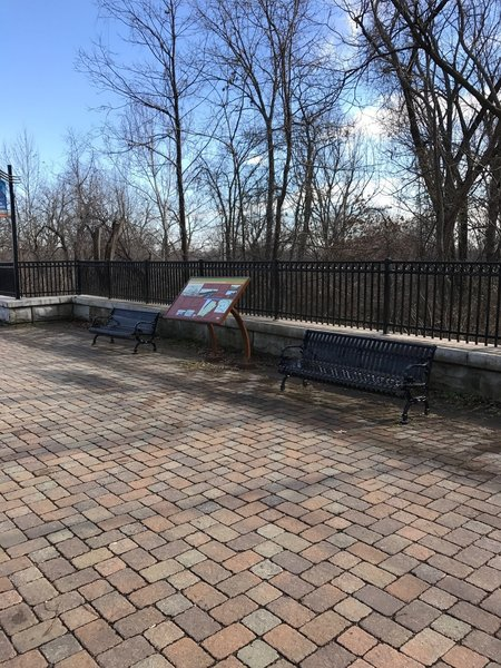 Benches offer a nice break along the Mississippi River Greenway.
