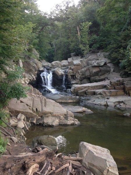 Scott's Run waterfall.
