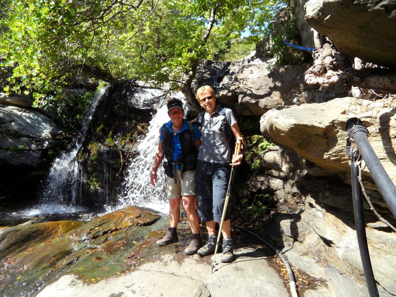 Pythara Waterfalls make for a scenic photo opportunity along the Andros Route No. 8.
