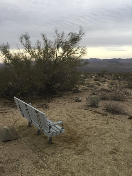 Scenic views are easy to find from the benches along the Bajada Nature Trail.