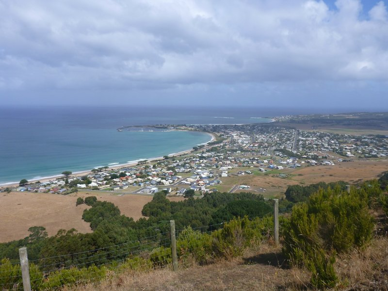 Marriner's Lookout offers a great view of Apollo Bay.