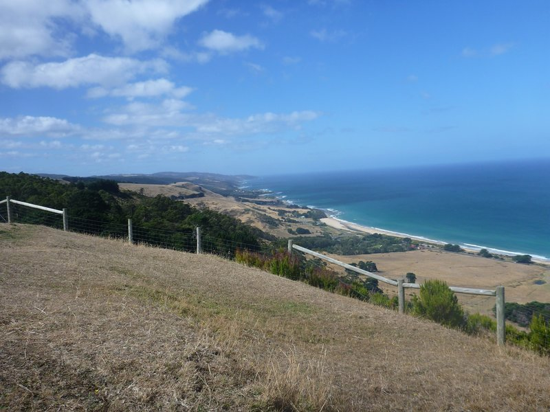 The view is beautiful looking east up the coast from Marriner's Lookout.