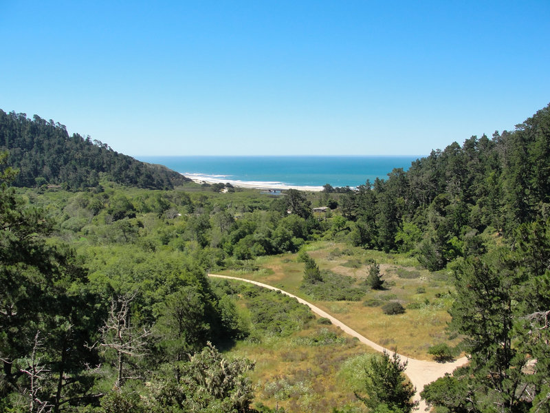 The Skyline to the Sea Trail hosts a fantastic view of Waddell Beach.