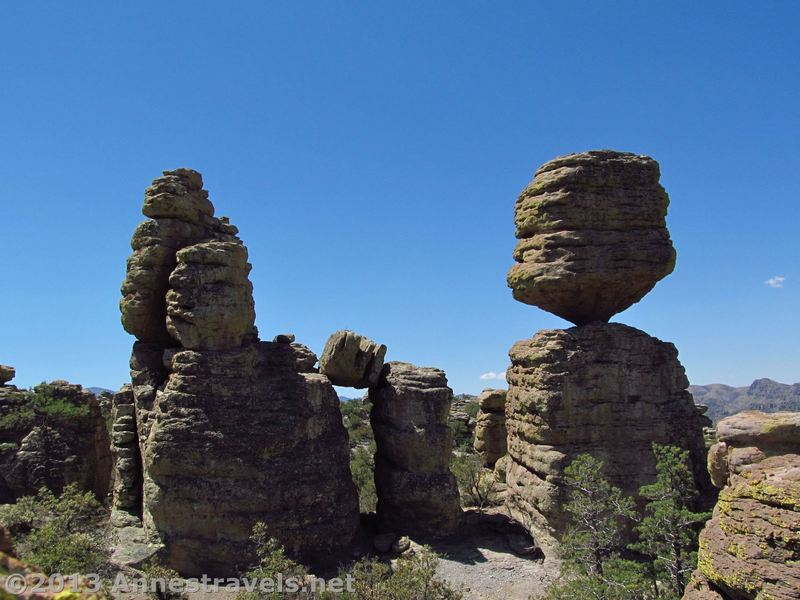Big Balanced Rock stands precariously in Chiricahua National Monument.