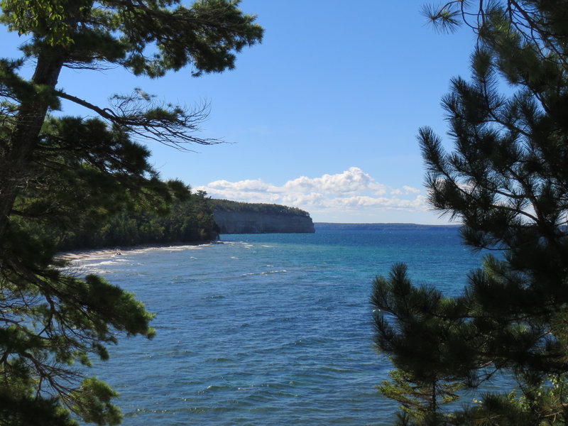 Enjoy a fantastic view of Lake Superior from Mosquito Bluff along the North Country Trail near Munising, Mi.
