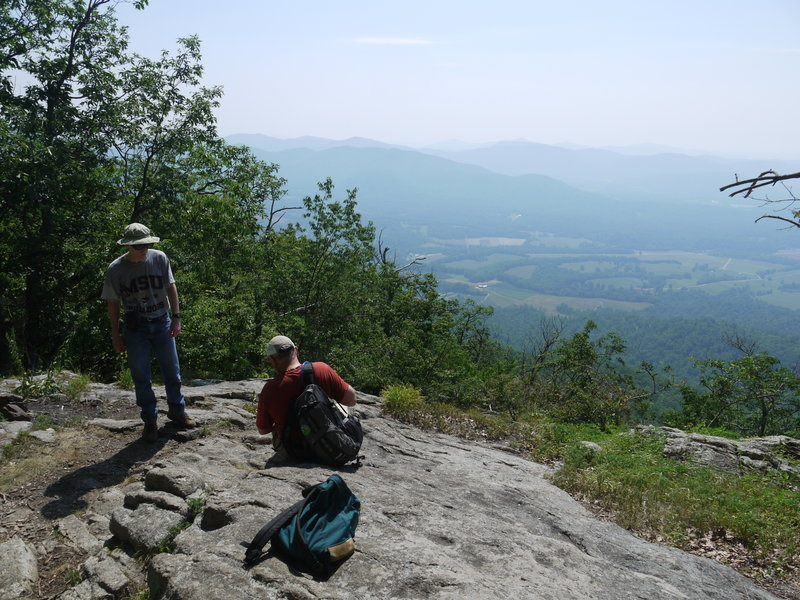 This rock overlook offers great views of the Tye River Valley to the southeast.