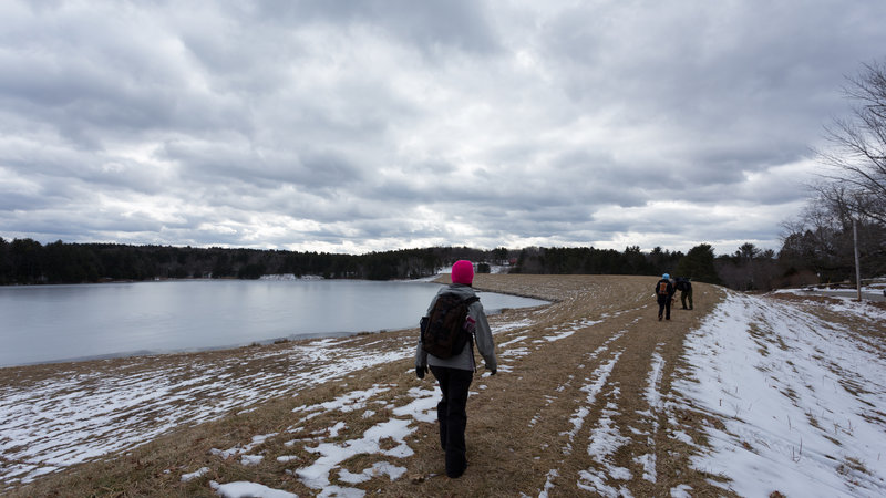 Even in winter, a walk across the dam can be enjoyable.