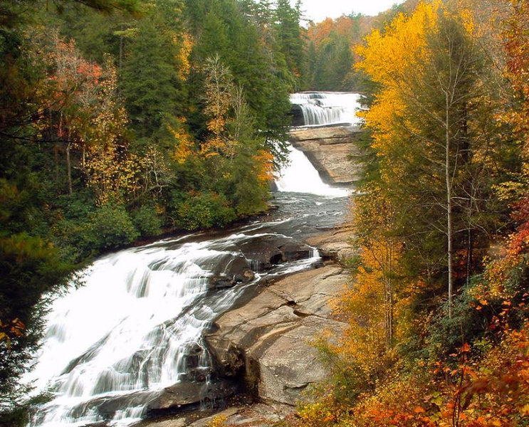 Triple Falls at DuPont State Forest.