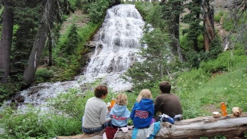 Umbrella Falls is a wonderful place to enjoy with family. Photo by Mt. Hood Adventure Tours.
