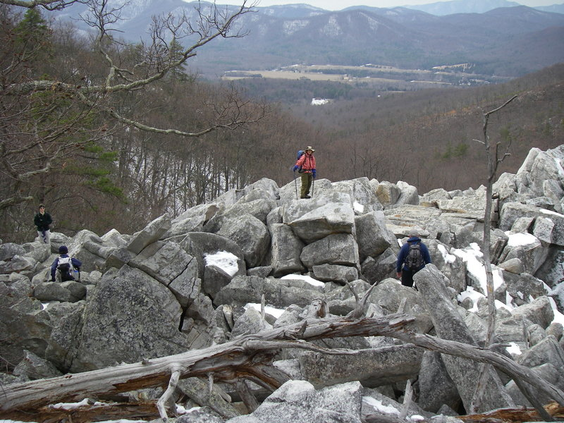 The Devils Marble Yard can be accessed from the Belfast Trail.