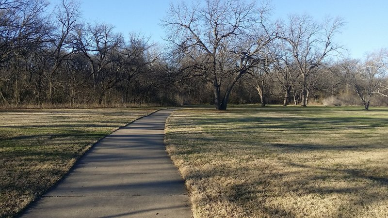 Enjoy ample space along the Bob Woodruff Trail.