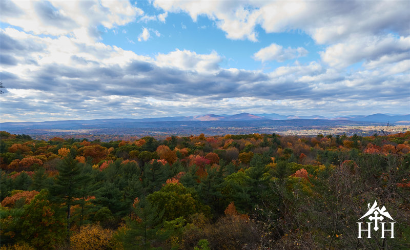 Take in this view of the Catskills from the ridgeline.